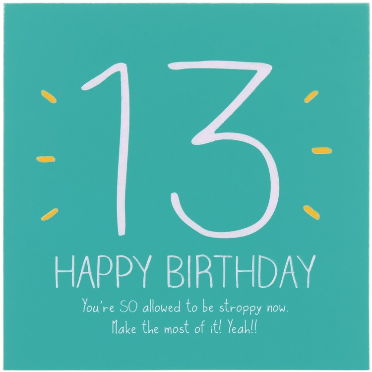 Funny Quotes Happy 13th Birthday. QuotesGram
