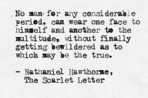Nathaniel Hawthorne The Scarlet Letter Quotes