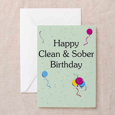 Happy Anniversary with Recovery Slogans Sobriety Card