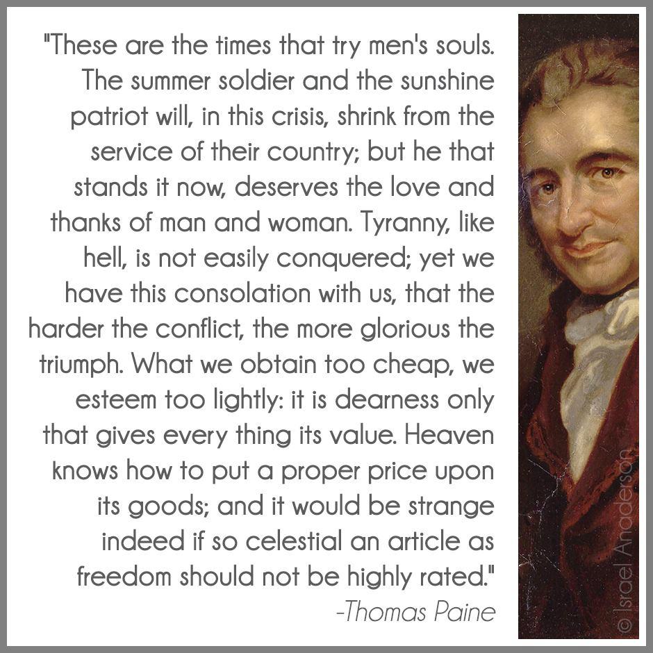 Thomas Paine On Patriotism Quotes. QuotesGram