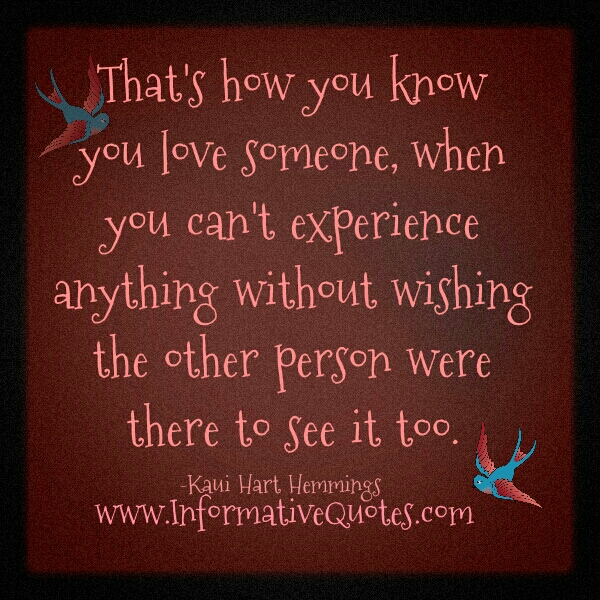 How You Know When Someone Loves You Quotes. QuotesGram