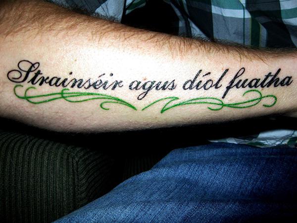 Irish quotes about life tattoos quotesgram for Irish gaelic tattoos