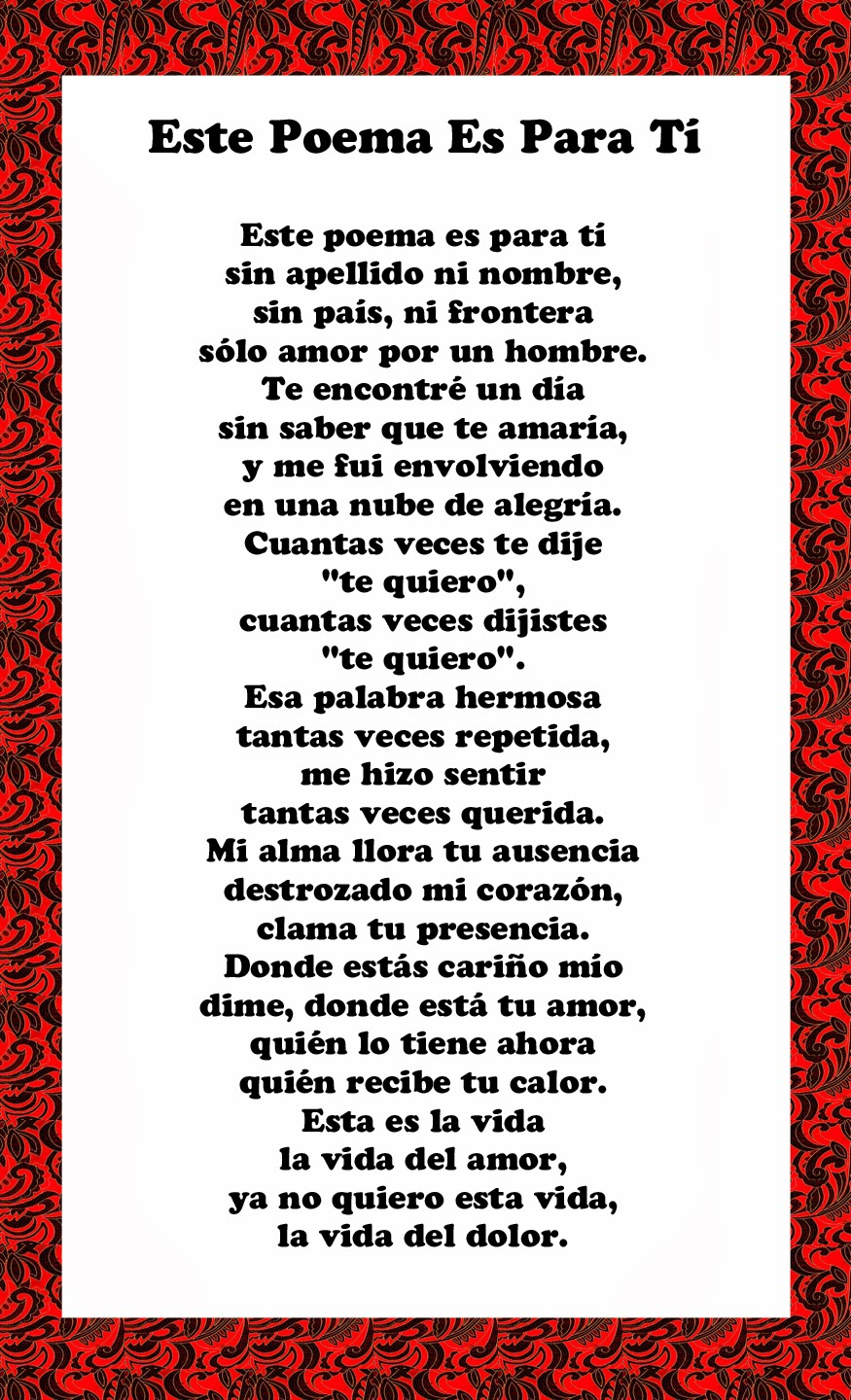 Spanish anniversary poems and quotes quotesgram - Love poems for him in spanish ...