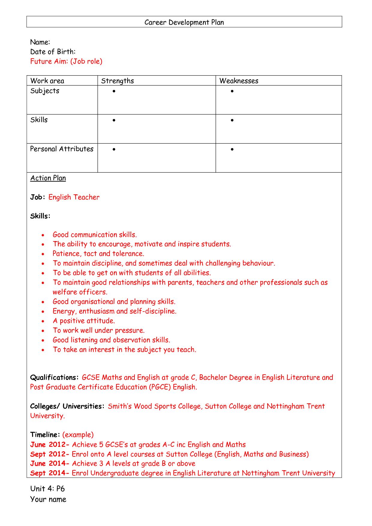 subject development task pgce