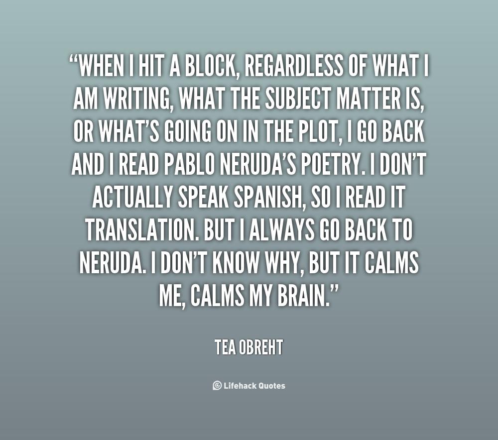 19 Inspirational Quotes To Help You Beat Artist S Block: Tea Obreht Quotes. QuotesGram