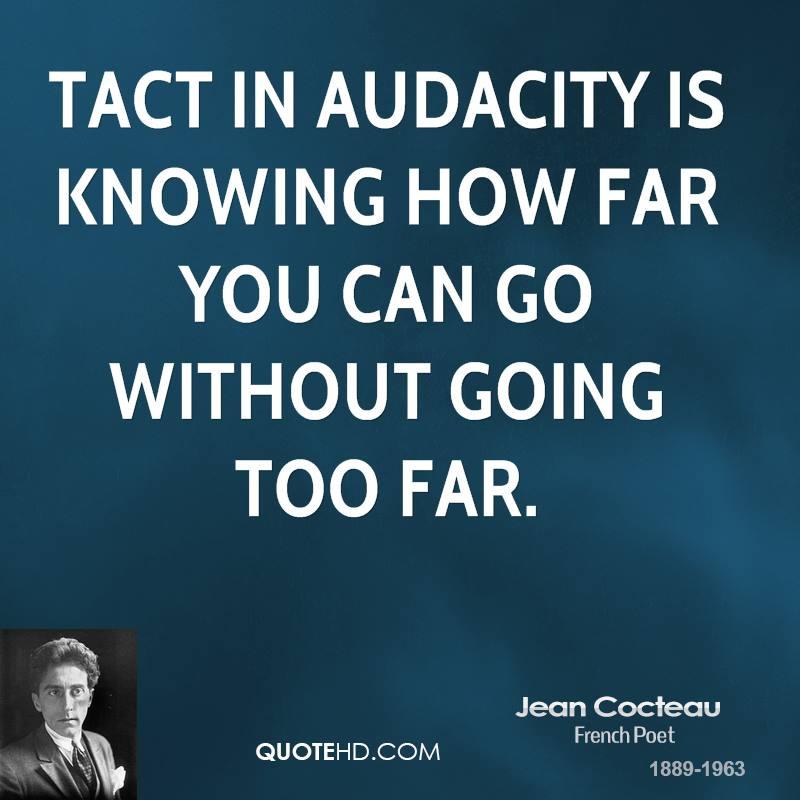 Audacity Of Hope Quotes: Jean Cocteau Quotes. QuotesGram