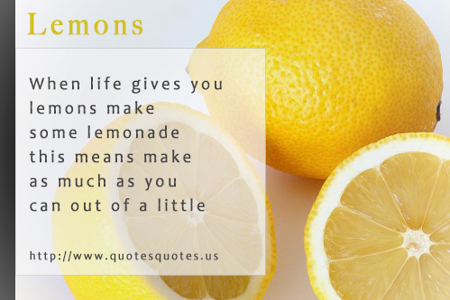 Lemon Quotes And Sayings Quotesgram