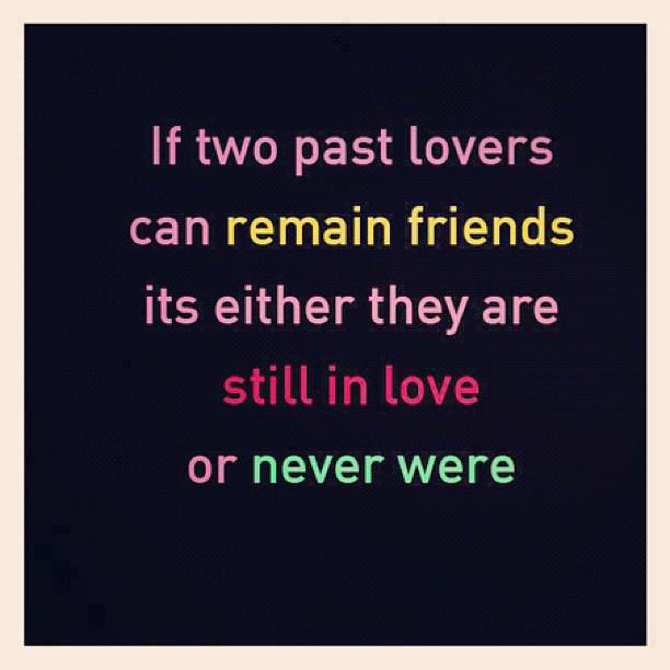 Being Friends With An Ex Quotes: Love Vs Friendship Quotes. QuotesGram