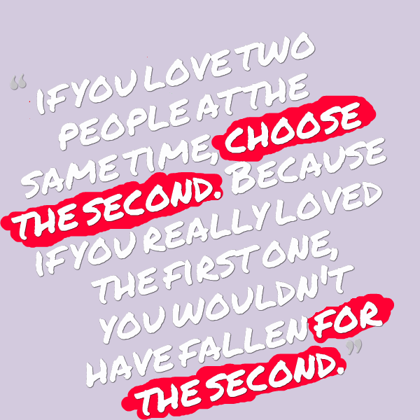 quotes about loving two people at same time quotesgram