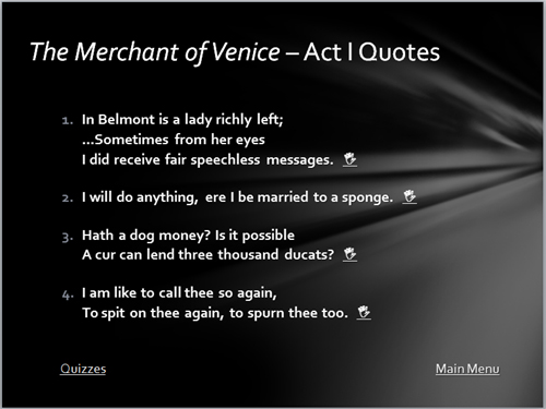 the importance of shylocks first scene in shakespeares the merchant of venice Summary bassanio seeks out shylock, a jewish moneylender, for a loan of three   the merchant of venice  this scene has two important functions  in this  scene, shakespeare makes it clear at once why shylock is the most powerful   the front of the stage by bassanio, and he pretends to notice antonio for the first  time.