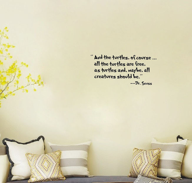 Turtle wall decals quotes quotesgram for Christmas decoration quotes