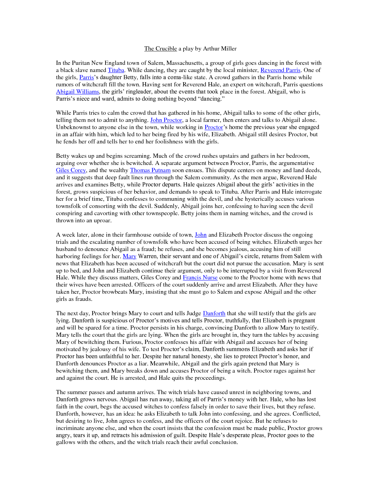 john proctor essay summary on john proctor from the crucible john proctor important quotes quotesgram