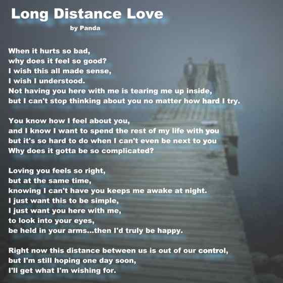 Poem distance love 16 Poems