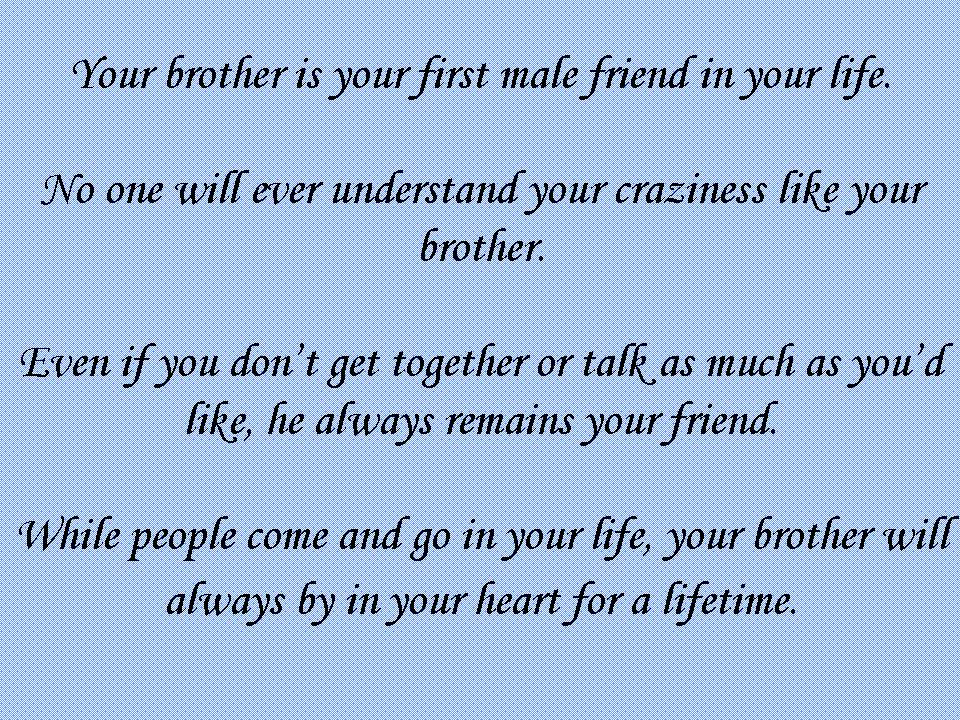 I Love My Brother Quotes For Facebook. QuotesGram