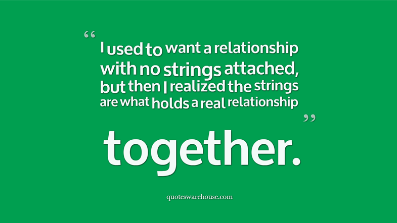 no strings attached what is a casual relationship