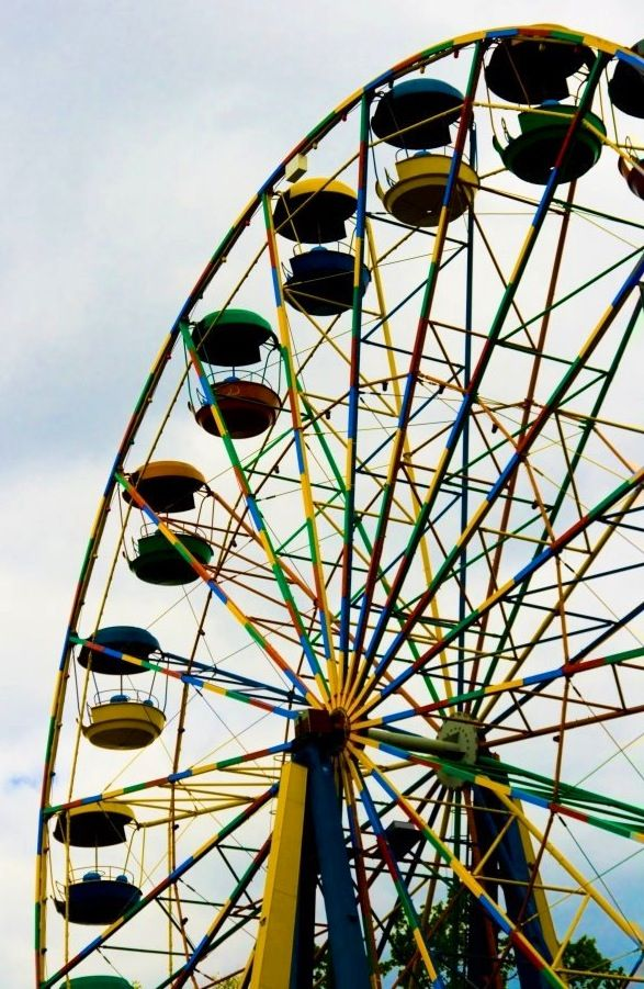 Items similar to Be Brave Ferris Wheel California Art ... |Quotes About Ferris Wheels