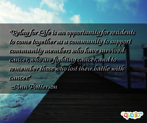 Albert Einstein Education >> Relay For Life Cancer Quotes. QuotesGram