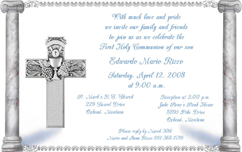 First Communion Quotes For Cards. QuotesGram