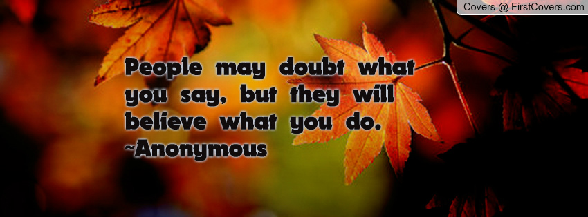 When People Doubt You Quotes. QuotesGram