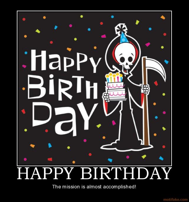 Прикольные, картинка с днем рождения черный юмор