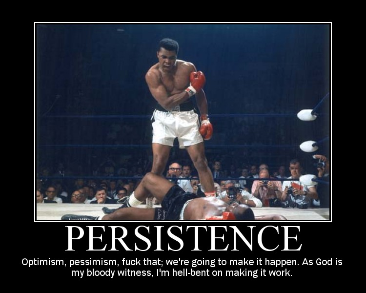 Persistence Quotes For Work: Funny Persistence Quotes. QuotesGram