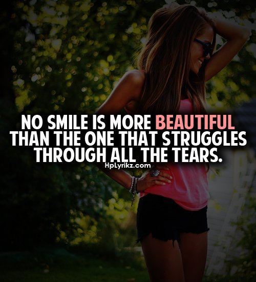 Beautiful Face Quotes For Girl: Smile Quotes For Girls. QuotesGram