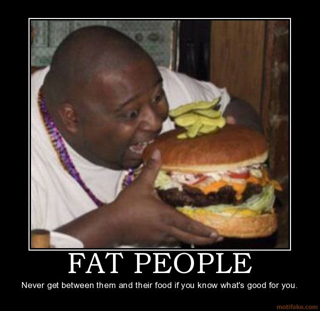 A very fat person