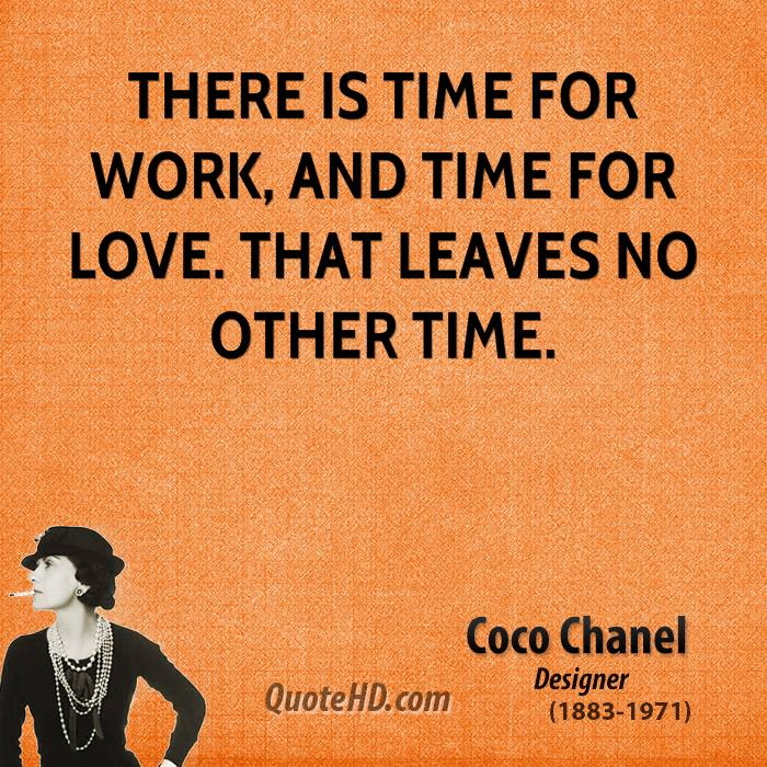 Coco Chanel Famous Quotes: Coco Chanel Quotes About Work. QuotesGram