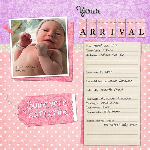 Scrapbook Pages Baby Quotes Quotesgram