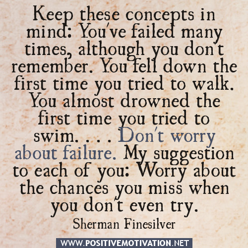 Inspirational Quotes About Failure: Positive Quotes On Failure. QuotesGram