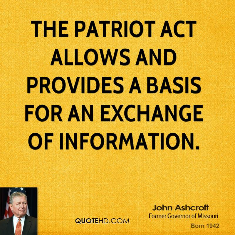 Patriot Act can