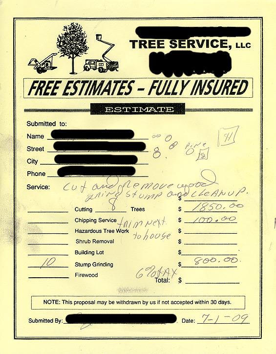 Tree Service Estimate Template from cdn.quotesgram.com