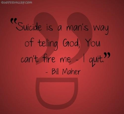 Quotes About Depression And Suicide: Famous Quotes About Suicide. QuotesGram