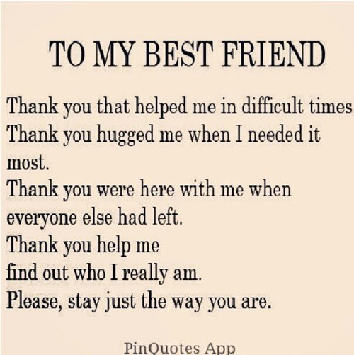 Thank You Letter To Best Friend Tumblr