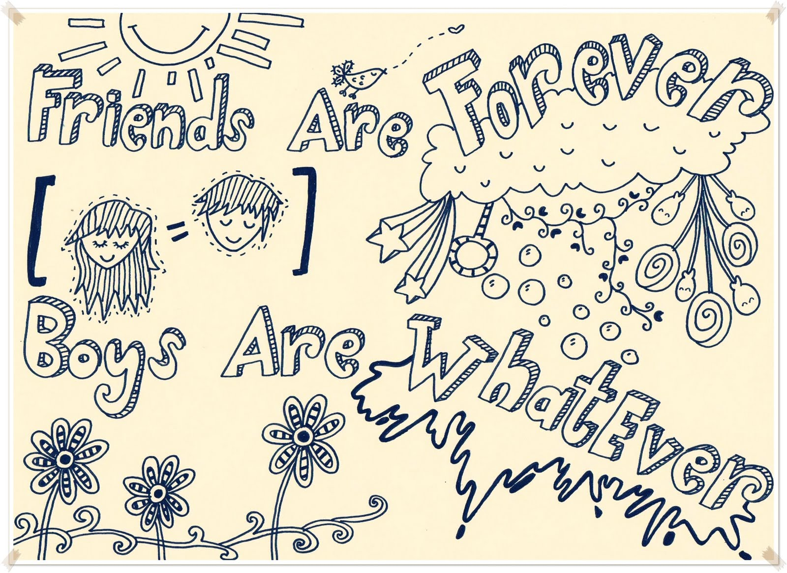 Doodle Art Friendship Quotes QuotesGram