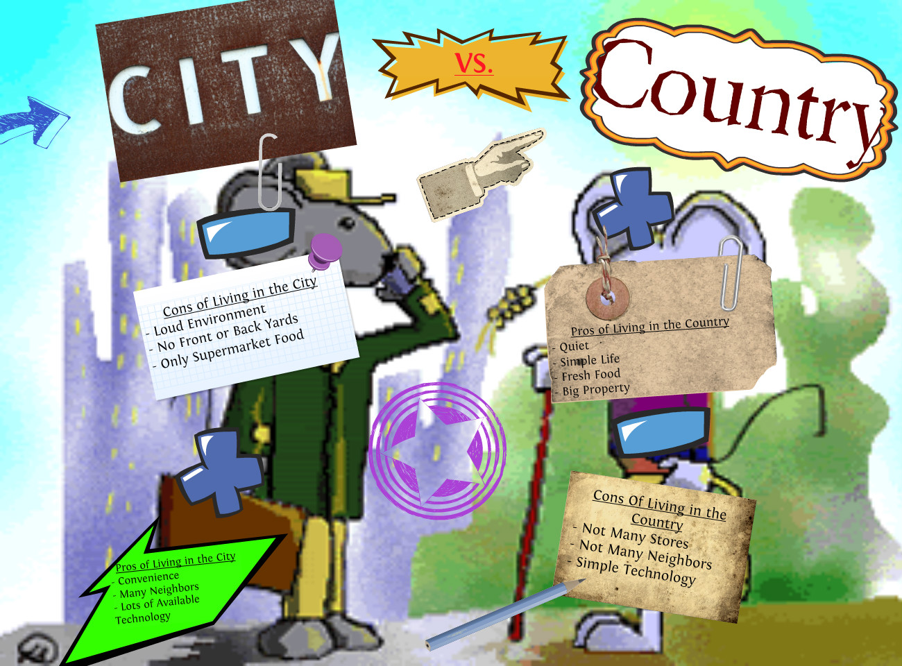 Country life vs city life essay