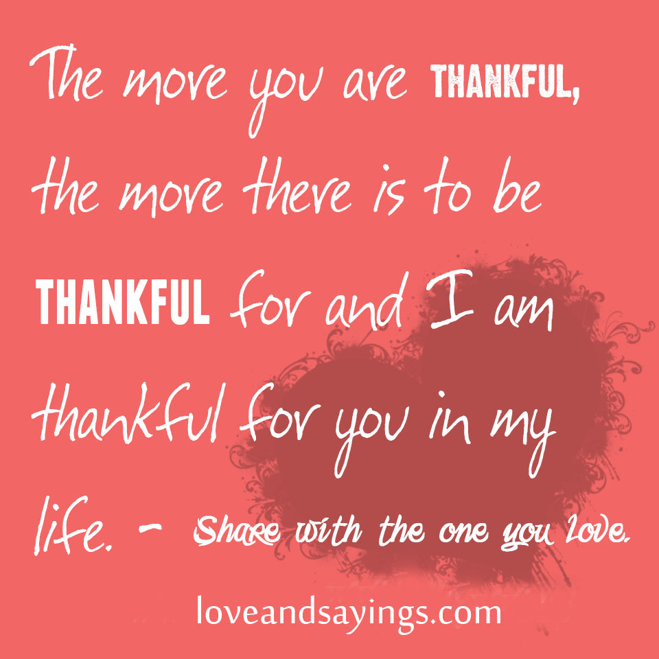 Thankful For Quotes: Grateful For You Quotes. QuotesGram