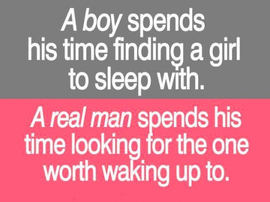 Boy man on Man who