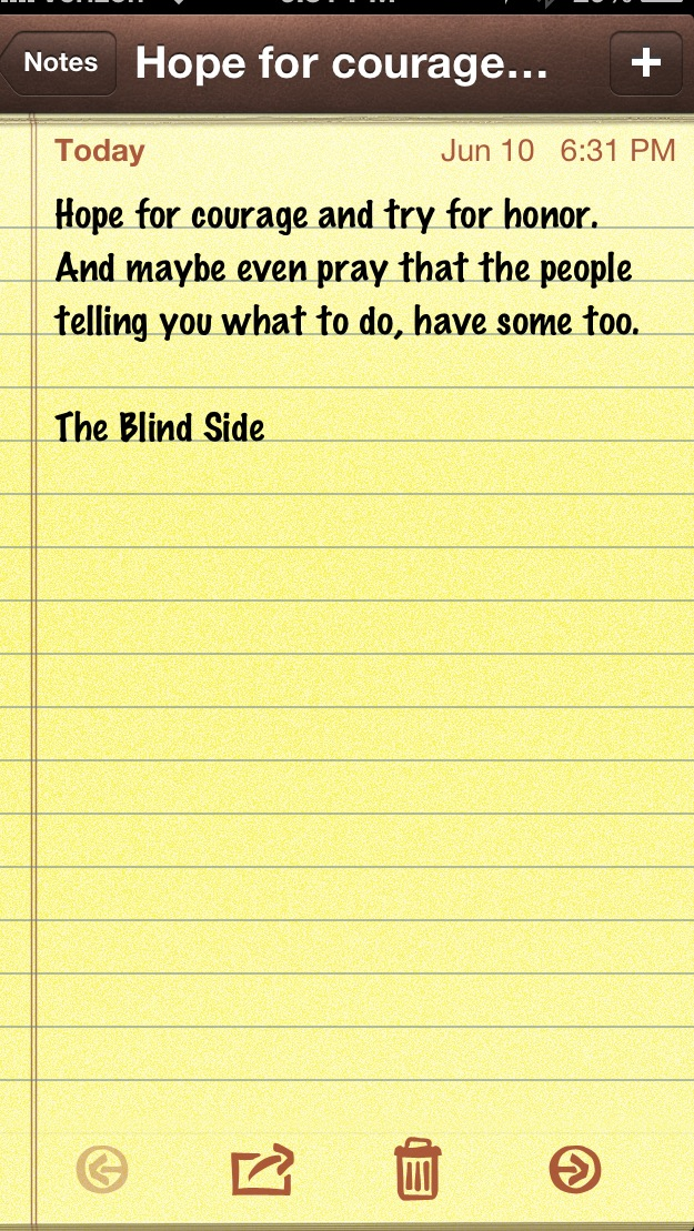 The blind side essay about courage