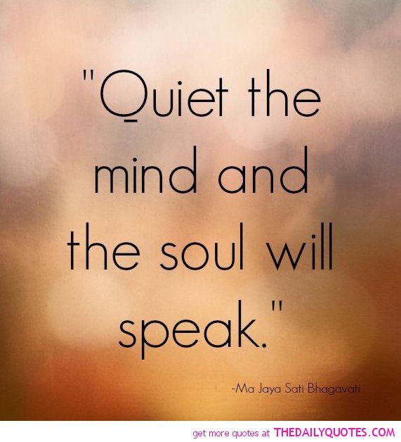 Quiet quotes and sayings