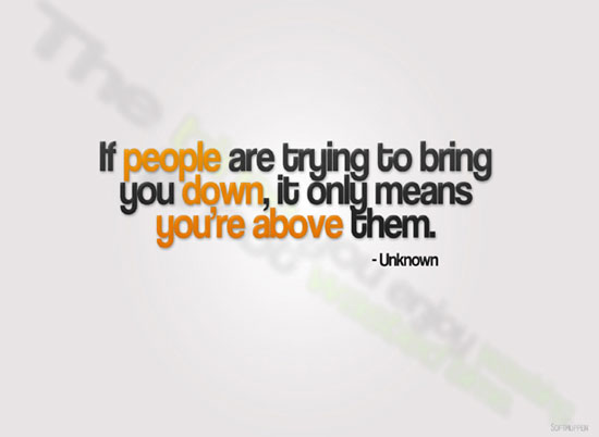 Dont Let People Bring You Down Quotes. QuotesGram