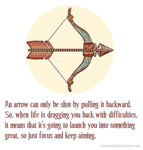 An Arrow Can Only Be Shot By Pulling It Backward When: Bow And Arrow Quotes. QuotesGram