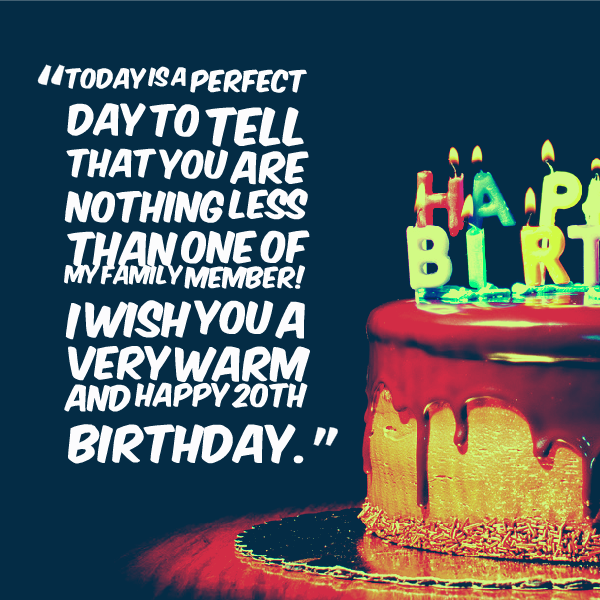 The 50 Best Happy Birthday Quotes Of All Time: Happy 20th Birthday Quotes. QuotesGram