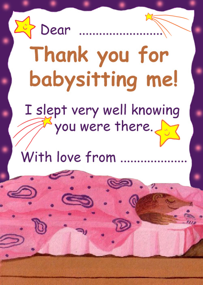 Thank You Babysitter Quotes Sayings. QuotesGram