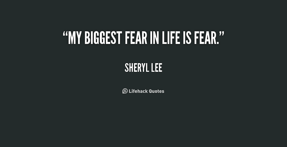 lightning the biggest fear in my life Top 10 fears that hold us back in life by amy fear can hold you back in your people who have a big fear of being emotionally hurt often refuse to enter into.