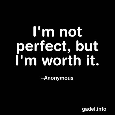 Not Being Perfect Quot...