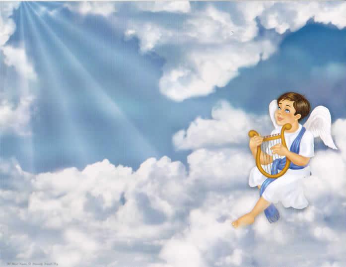 Baby Boy Angel Background