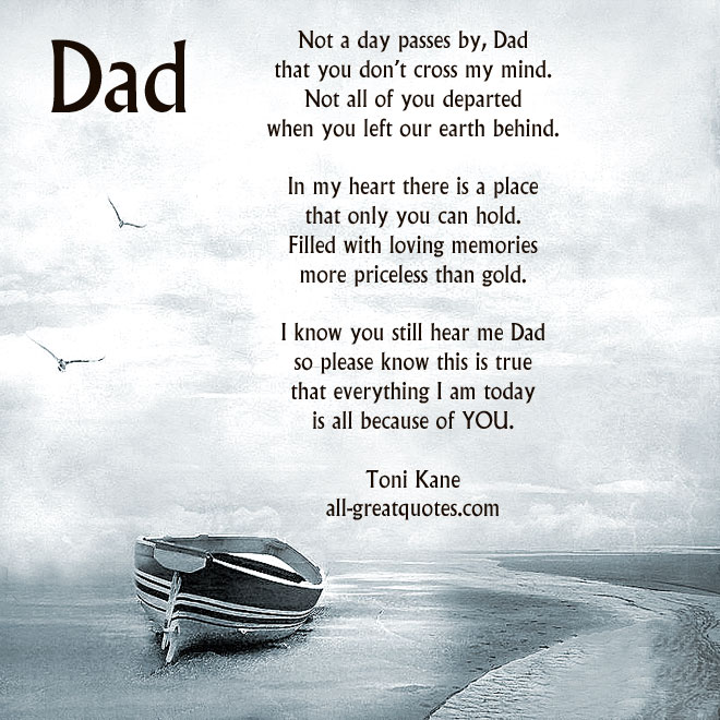 My Dad Dads And Father In Memory Of: My Dad Left Me Quotes. QuotesGram