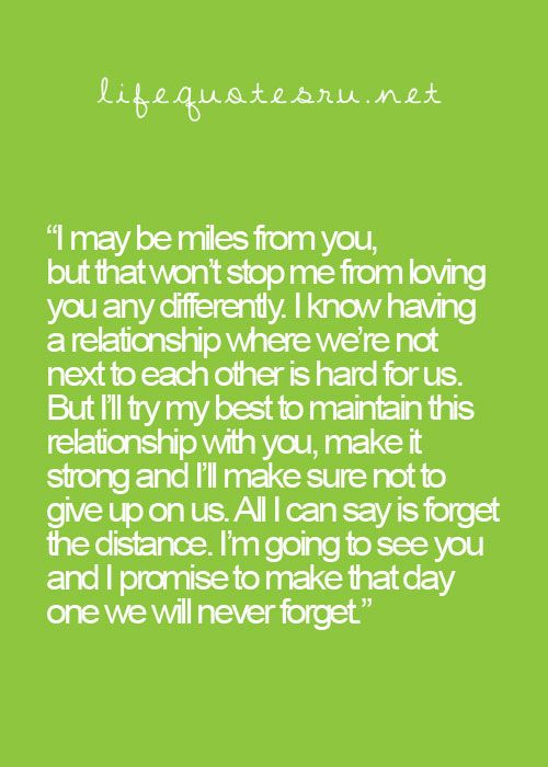 Message distance monthsary for her long Touching Love