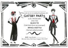 1920s Party Invitation Wording